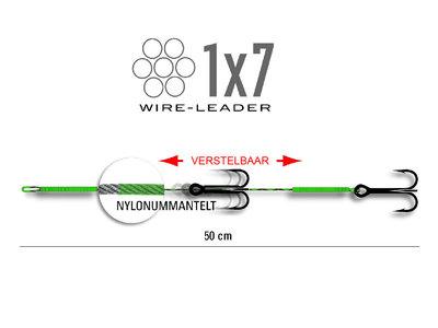 Stalen onderlijn 2 dreggen (40 cm)