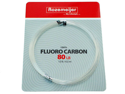100% Fluoro Carbon 4,5 m. (80 lb) Rozemeijer