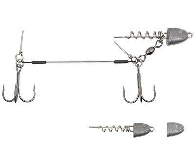 Swimbait Stinger 2 dreggen + Verwisselbare Loodkop 12 cm.