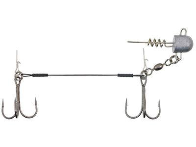 Swimbait Stinger 2 dreggen + Loodkop 12 cm.
